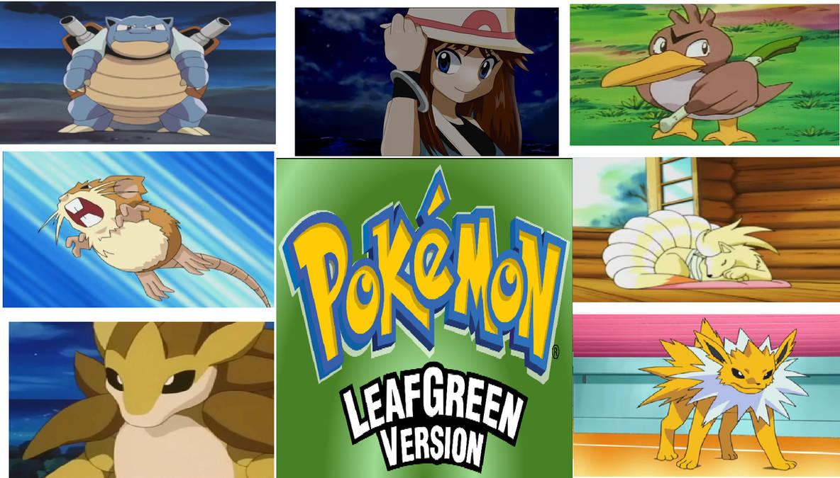 My Pokemon Leaf Green Team