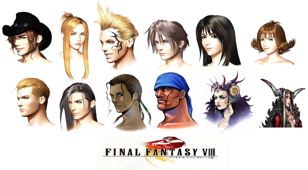 final fantasy viii characters by catcamellia on deviantart