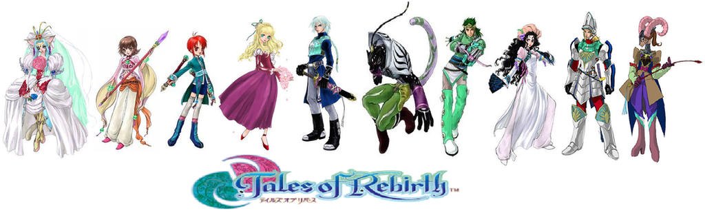 tales of rebirth characters by catcamellia on deviantart