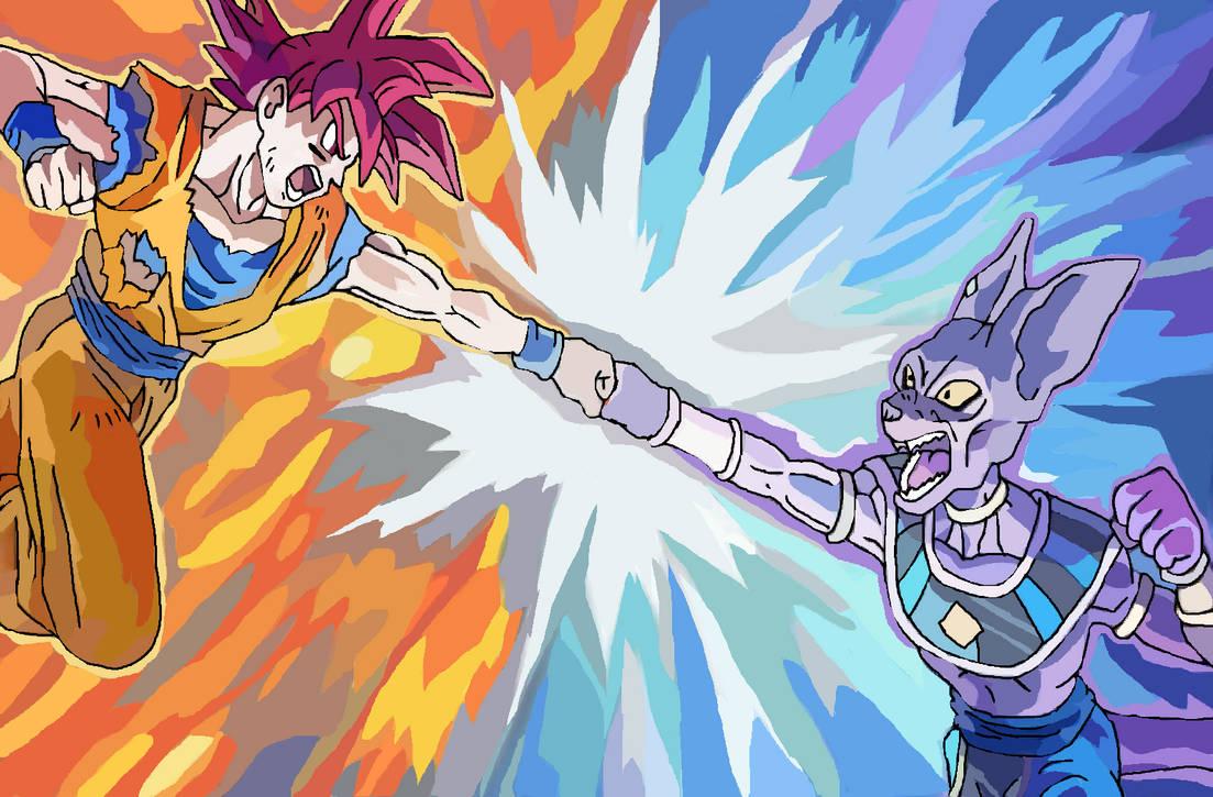 Goku vs Bills Drawing