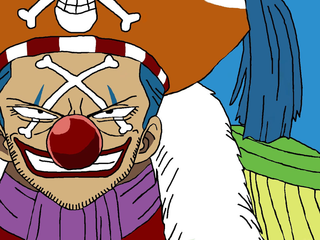 One Piece Buggy Drawing