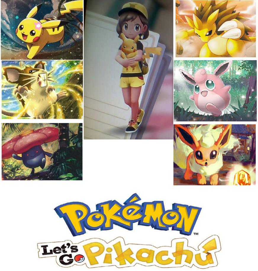 My Pokemon Let's Go Pikachu Team