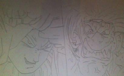 Dragon Ball Super Chapter 55 Vegeta vs Yuzun by CatCamellia