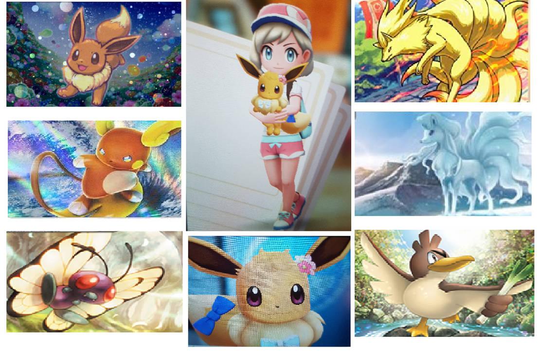 My Pokemon Let's Go Eevee Team