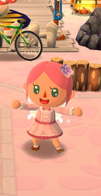 My character in Animal Crossing Pocket Camp