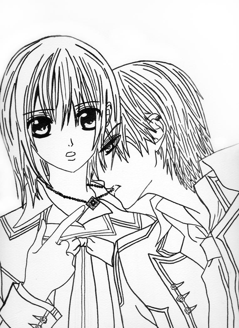 anime vampire knight coloring pages - photo#4