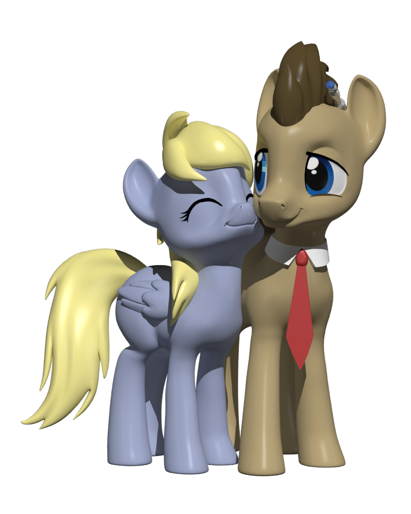 Derpy and the Doctor by Clawed-Nyasu