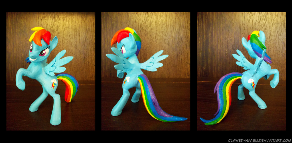 Rainbow Dash 3D-Printed Figure by Clawed-Nyasu
