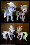 Flitter and Cloudchaser 3D Printed Figures