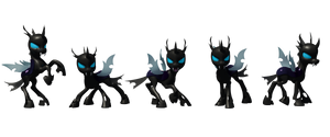 3D Changelings posed for printing