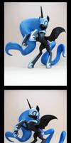 Nightmare Moon 3D-Printed Figure by Clawed-Nyasu