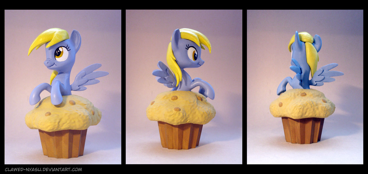Derpy on a Muffin 3D Print by Clawed-Nyasu