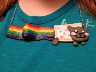 Nyan Cat Clay Necklace by Natshue