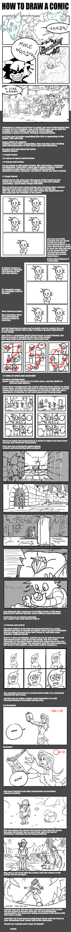 HOW TO DRAW A COMIC! by arinfu