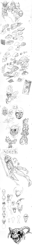 Sketch Dump 2017 by arinfu