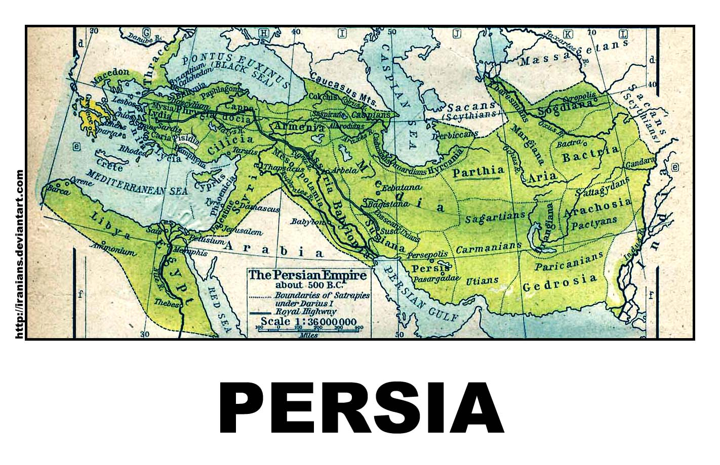Persian Empire - 500 B.C by iranians