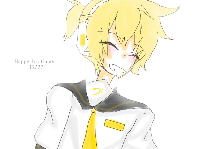 aaa aa  a  happy birthday len by AskLenKagamine02