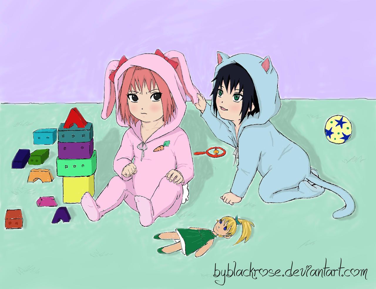 sasusaku kids favourites by miss-sasusaku on DeviantArt
