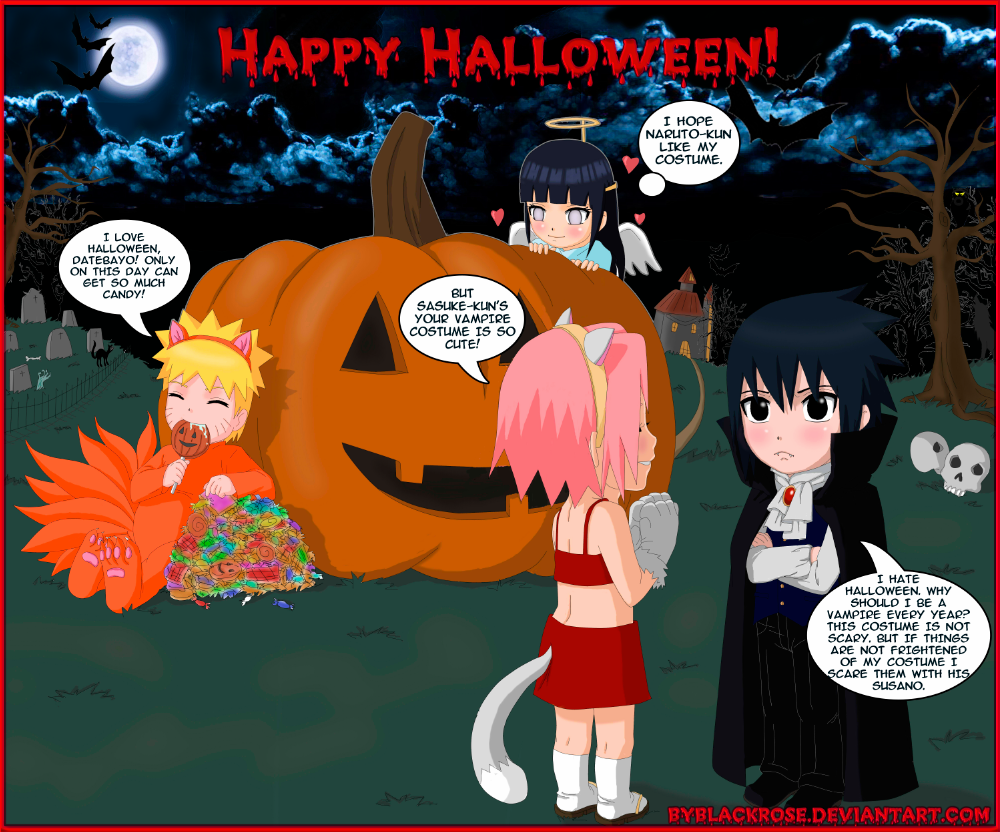 greeting card happy halloween by byblackrose - I Luv Halloween Manga