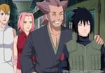 SasuSaku, Kizashi and Mebuki. Family.