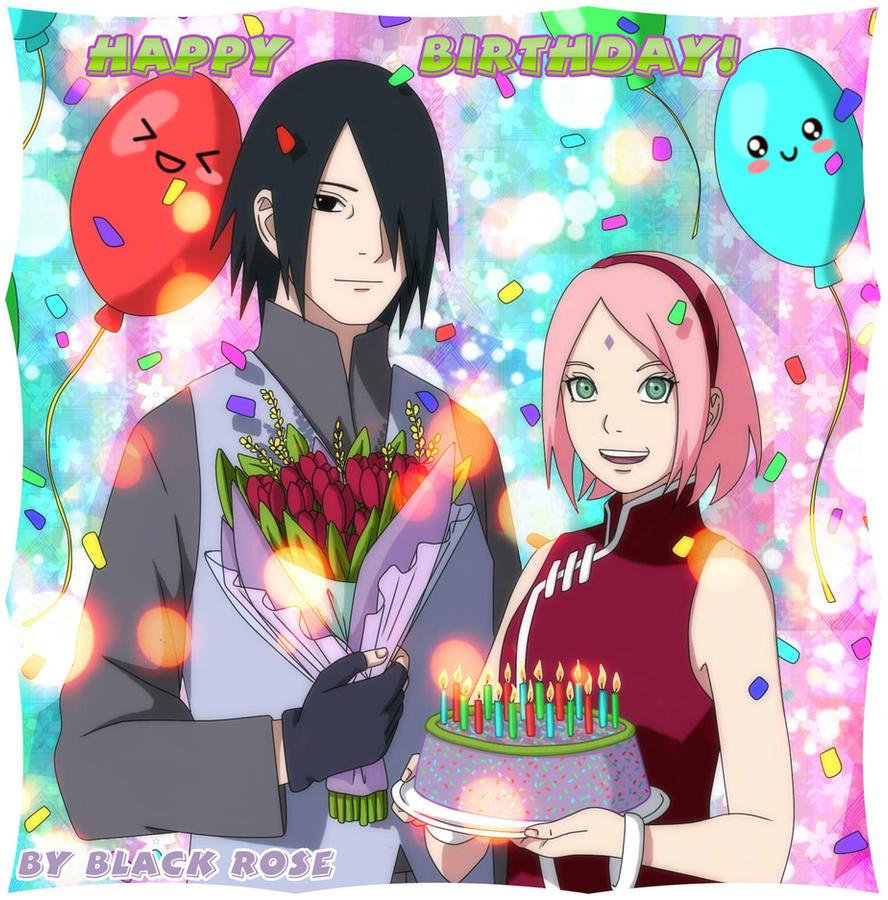 Birthday Greetings From Me And Sasusaku By Byblackrose On Deviantart