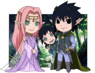 Sasuke, Sakura and Hikaru. The Royal Family. by byBlackRose
