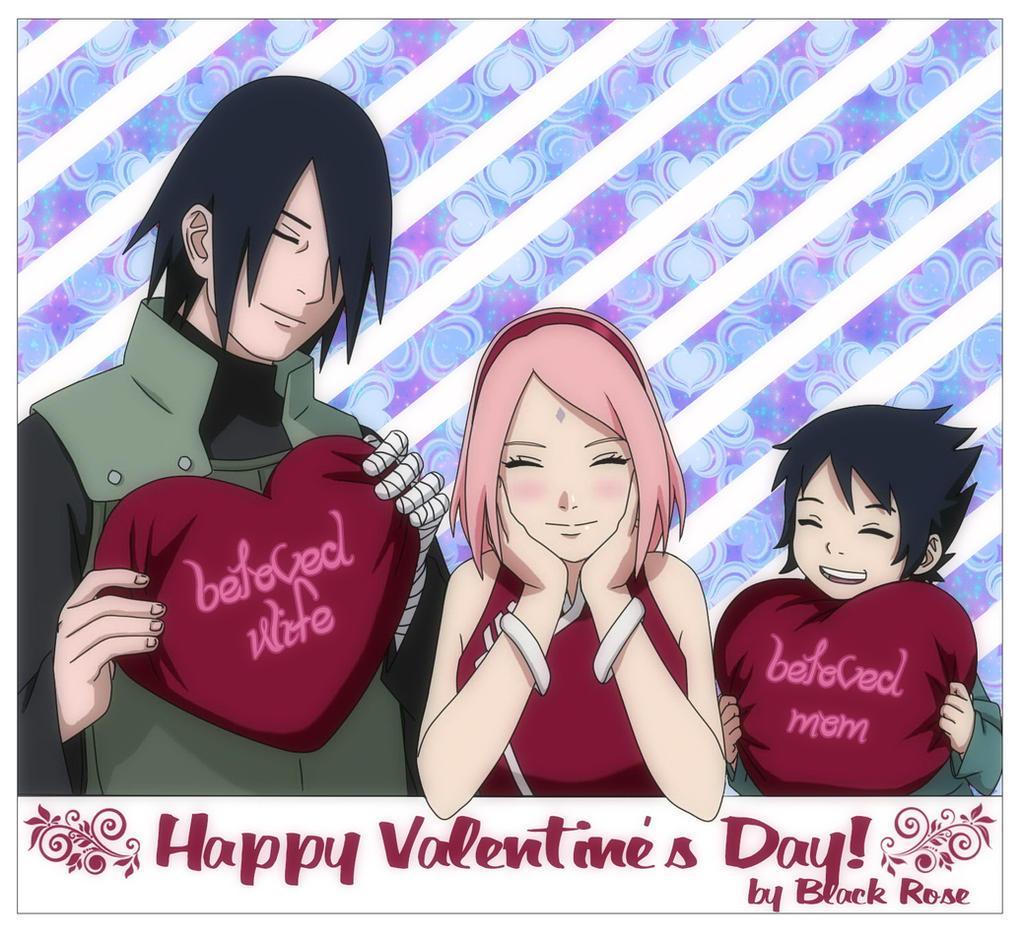 Sasusakusato happy valentine 39 s day by byblackrose on - Happy valentines day anime ...