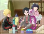 Boruto, Satoshi and Himawari