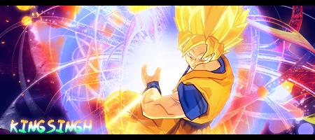 Goku Kamehameha sig by KingS1ngh