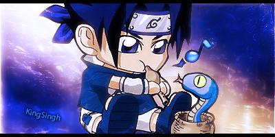 Chibi Sasuke sig by KingS1ngh