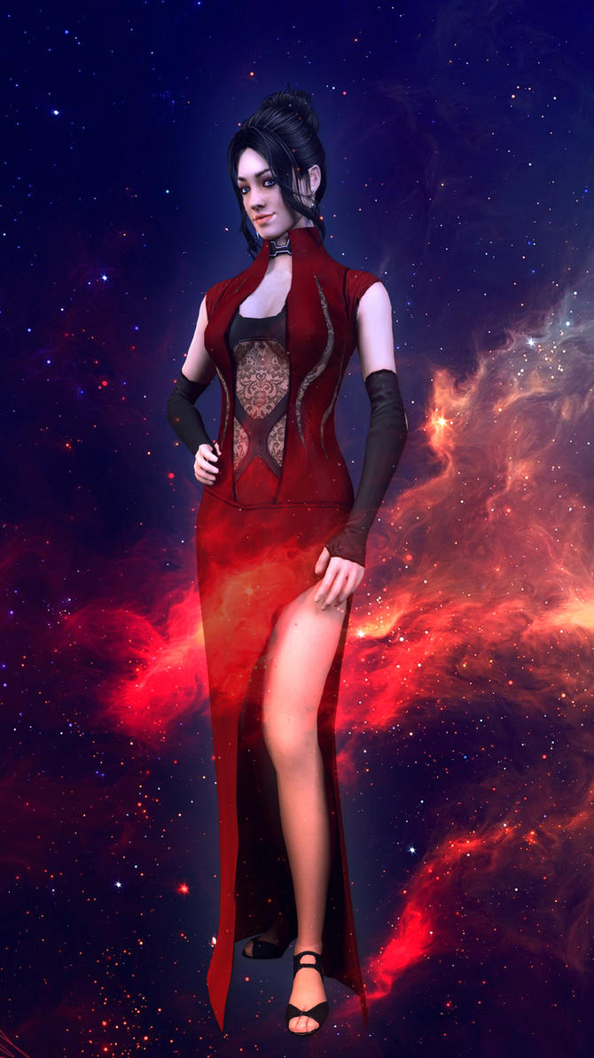 Lady in red by Skllhrt