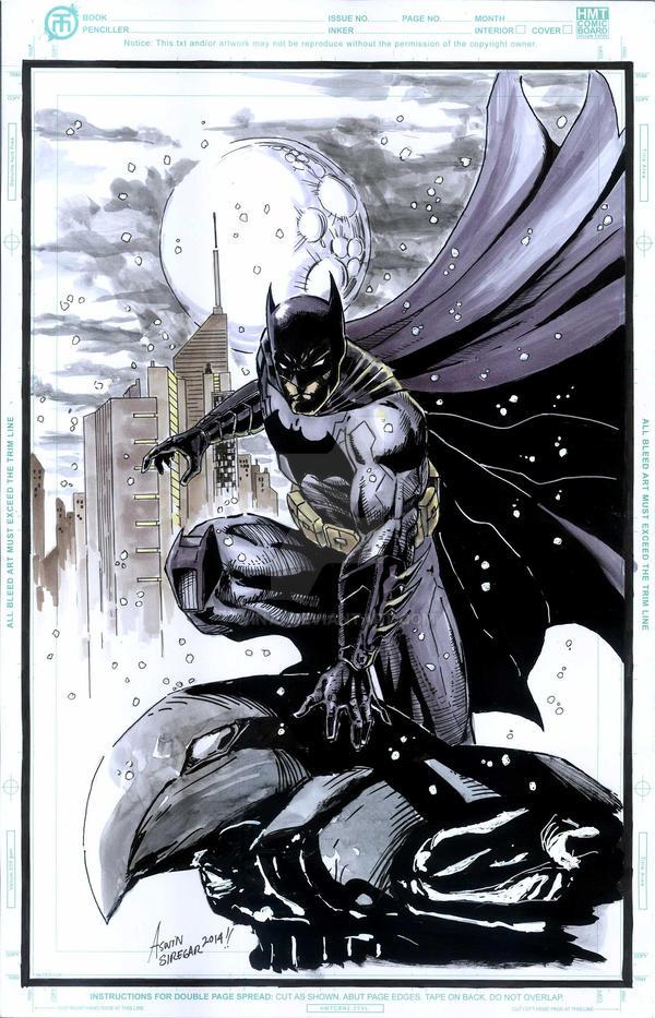 Batman on a gargoyle by WIN79