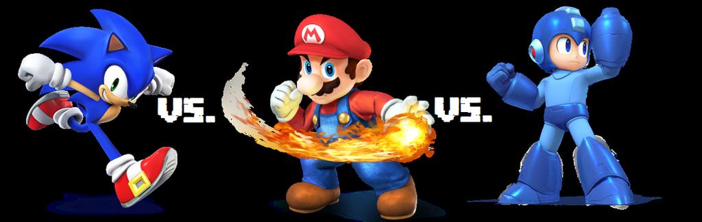 Mario Vs Sonic Vs Megaman Vs Pacman Sonic vs. Mario vs. Me...