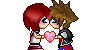 KH1! Sora x Kairi Kiss PLZ by HeartlessKairi