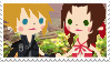 Cloud x Aerith stamp by HeartlessKairi