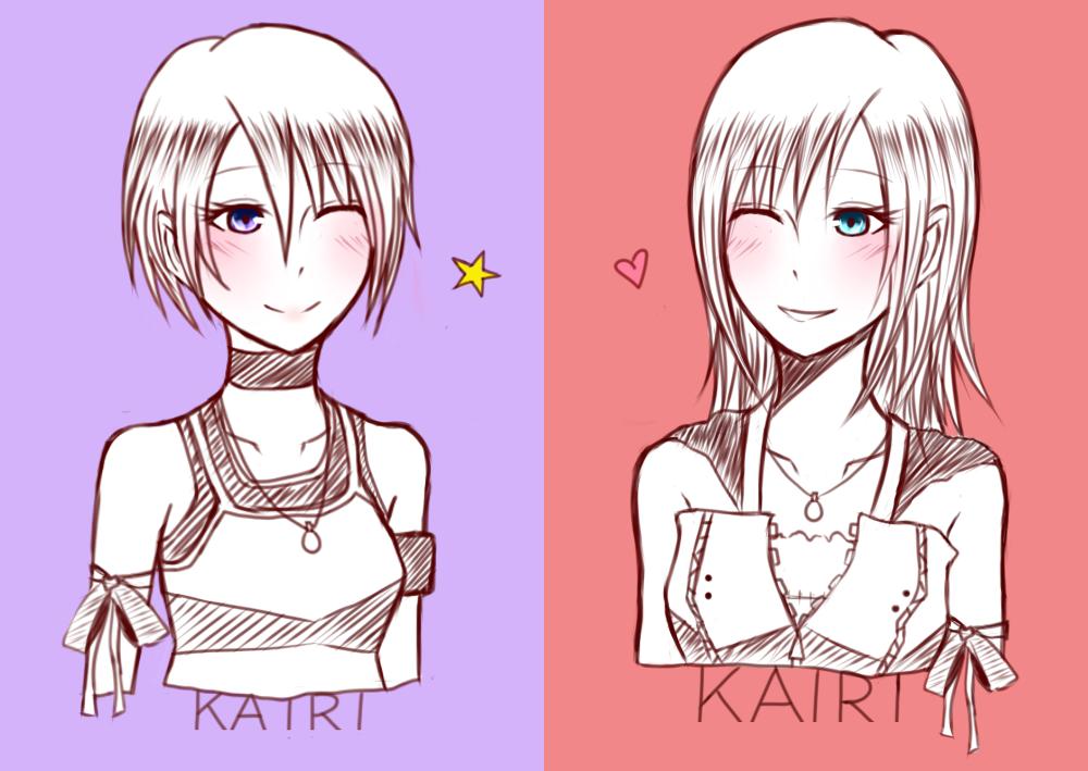 kh i and ii kairi by HeartlessKairi