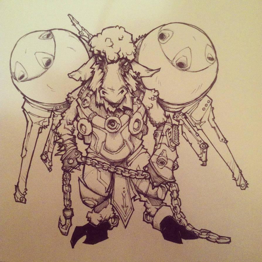 Space Sheep! Inktober Day 1