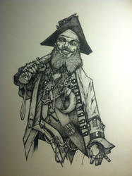 Pirate - Inktober day 2 by doktord