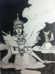 Mermaid Queen - Inktober day 8