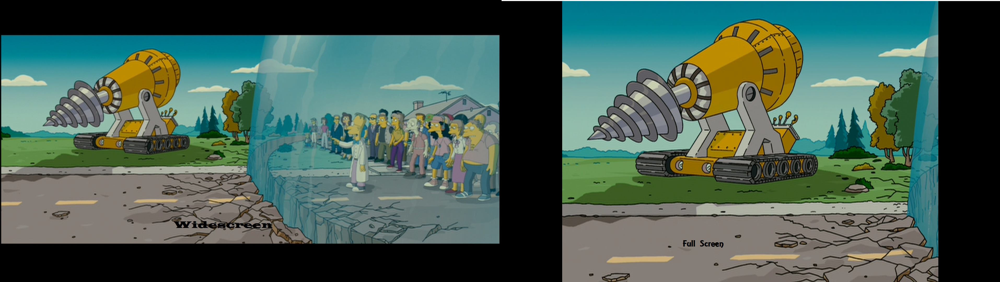 The Simpsons Movie Widescreen Vs Full Screen By Sonicmasher On Deviantart