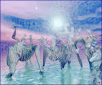 Dancing in the water
