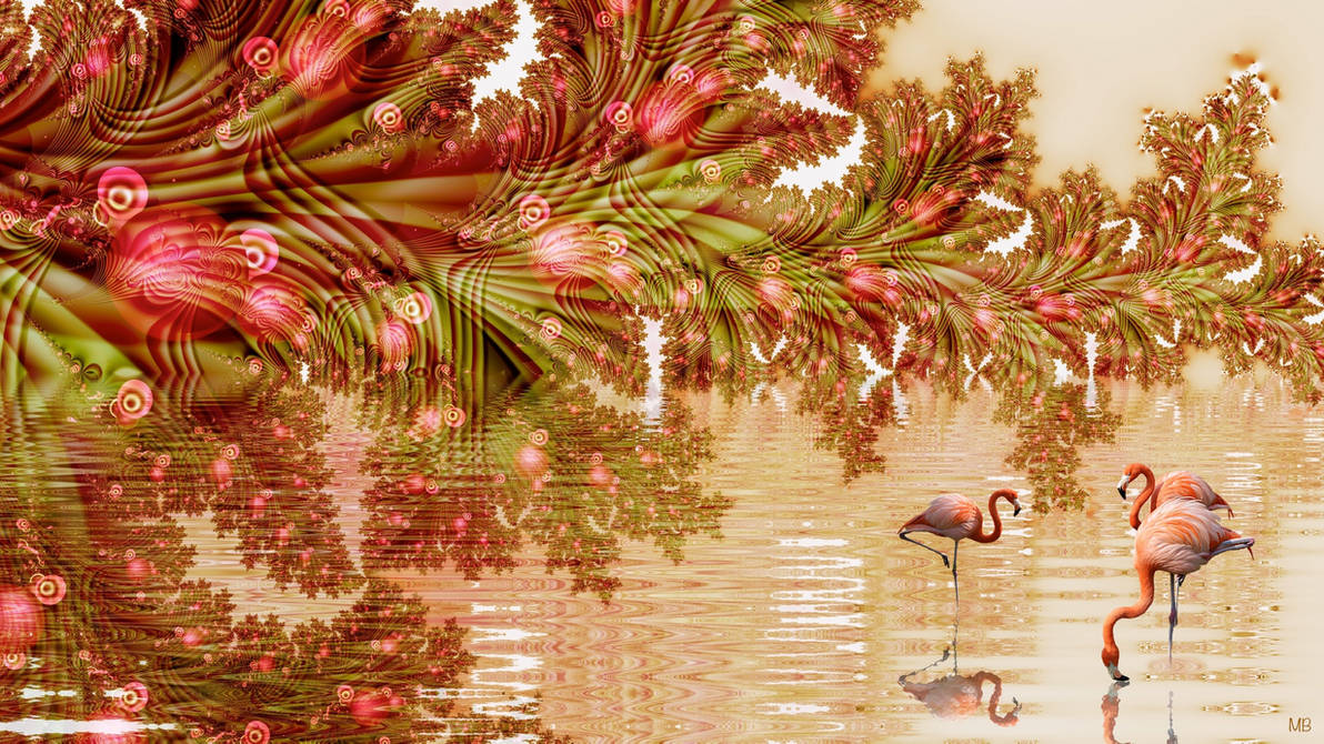 Flamingo Lake by marijeberting
