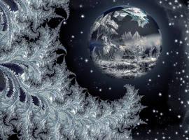 Ice planet by night by marijeberting