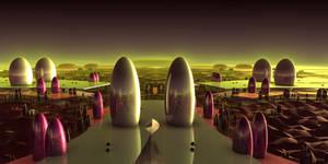 Tube City at Sundown