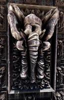 Elephant, old wood wall sculpture by marijeberting