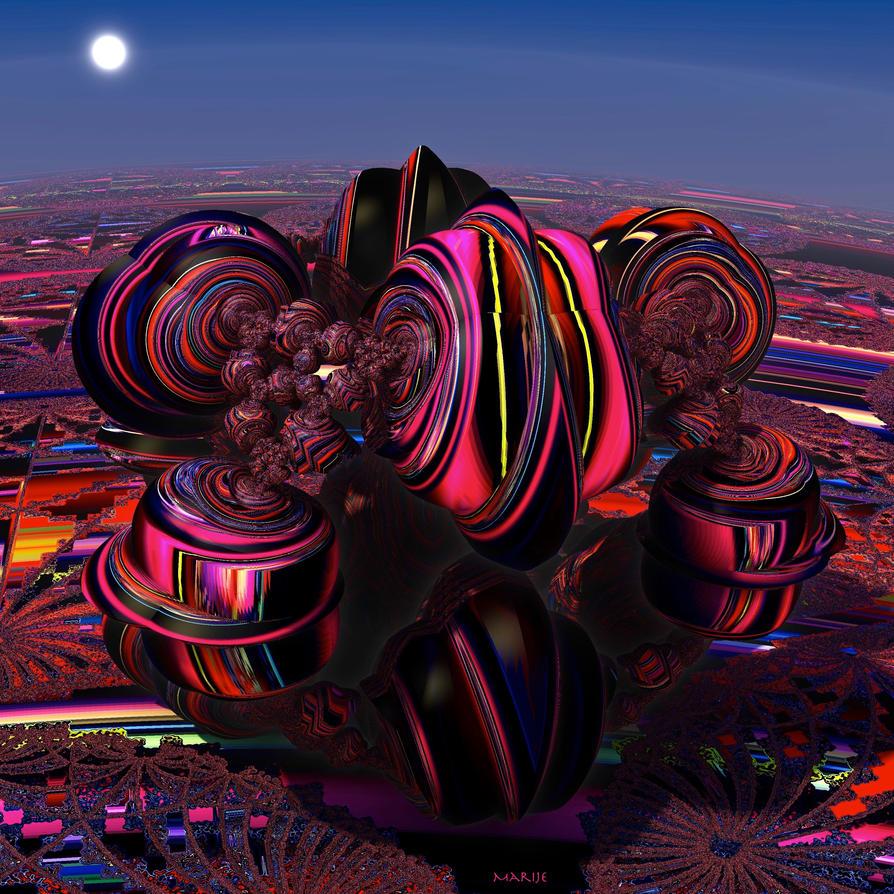 Psychedelic Landscape by marijeberting on DeviantArt