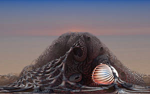 A glowing treasure in the fishing net by marijeberting