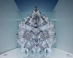 Crystal Glass Pyramids Sculpture by marijeberting