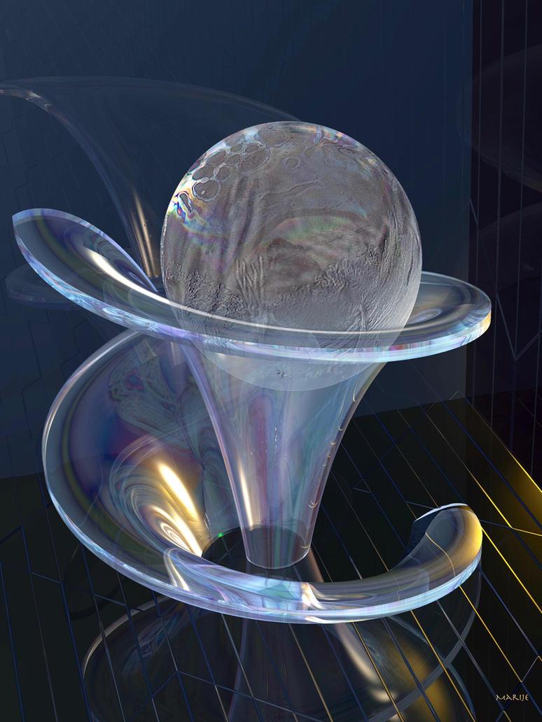 Frozen water bubble in glass sculpture by marijeberting on ...