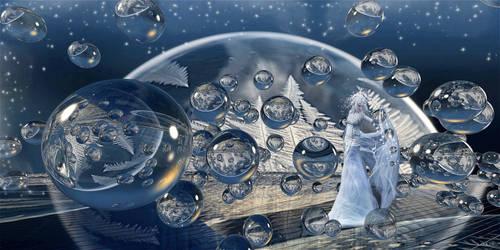 Frozen Bubbles Ice Queen by marijeberting